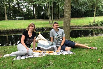 Picknicken in het park