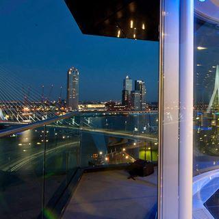 Rotterdam uitzicht Erasmusbrug