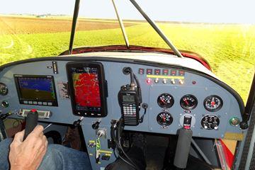 Cockpit coyote vliegtuig