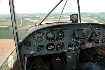 Uitzicht cockpit vliegtuig Belgie