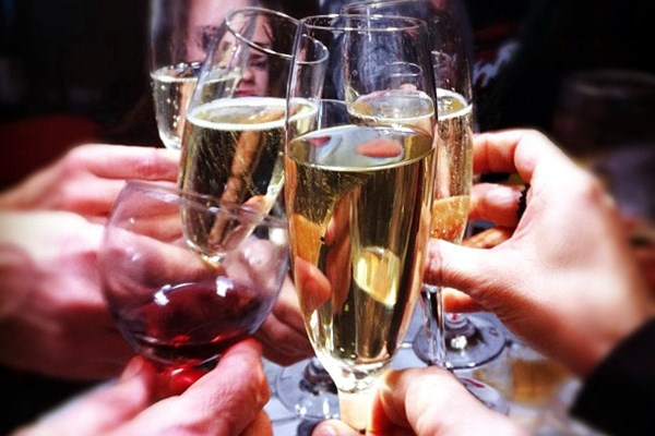 Proosten champagne