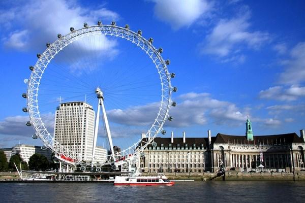 Londen Eye uitzicht