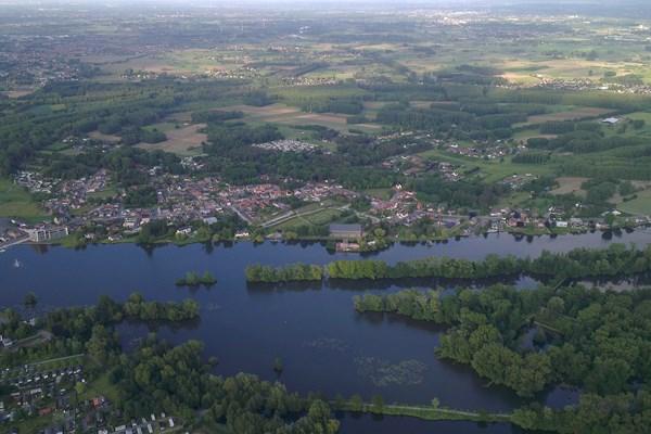 Uitzicht ballonvaart