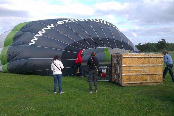 Ballon oplaten weiland