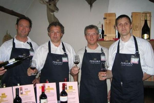 Wijnproeverij deelnemers