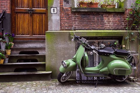 Vespa groen authentiek