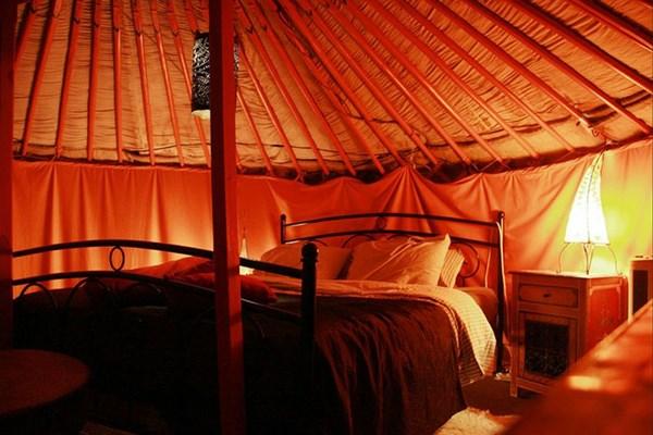 slapen in een yurth
