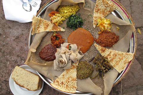Dineren met je handen in klein Ethiopië!