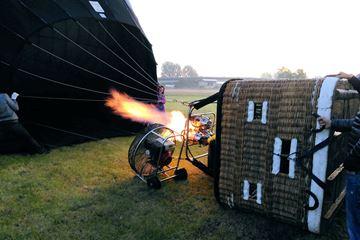 In een luchtballon
