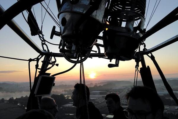 Uitzicht luchtballon België