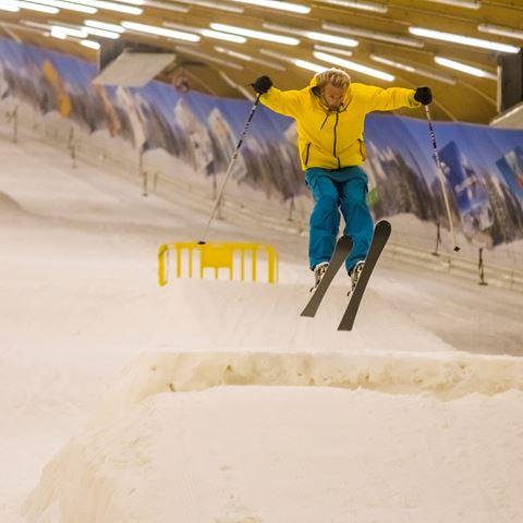 Skiën of snowboarden en eten