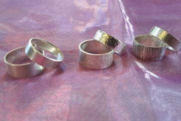Diverse zilveren ringen