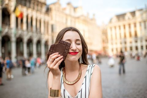 Vrouw met chocolade