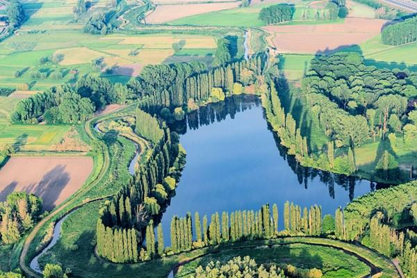 Uitzicht groen landschap