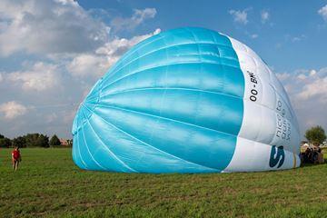 Luchtballon op grond