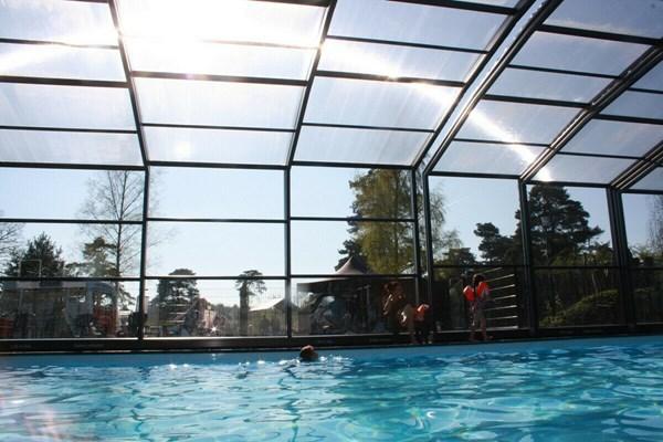 verwarm buiten zwembad