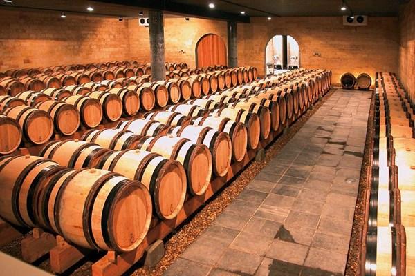Wijnkelder wijnvaten
